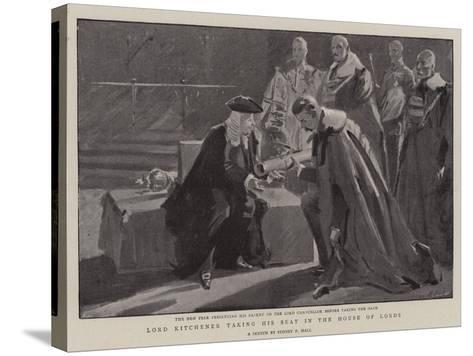 Lord Kitchener Taking His Seat in the House of Lords-Sydney Prior Hall-Stretched Canvas Print