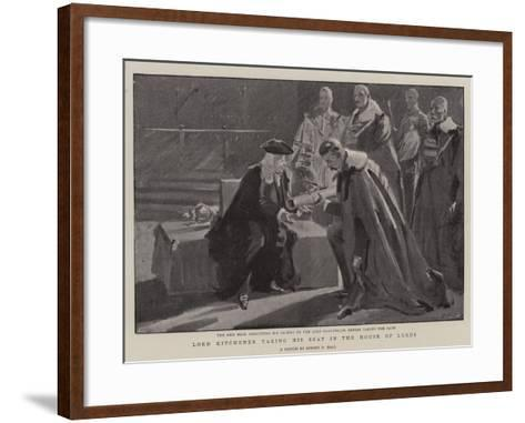 Lord Kitchener Taking His Seat in the House of Lords-Sydney Prior Hall-Framed Art Print