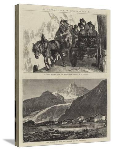 An Autumn Tour in Switzerland, X-Sydney Prior Hall-Stretched Canvas Print