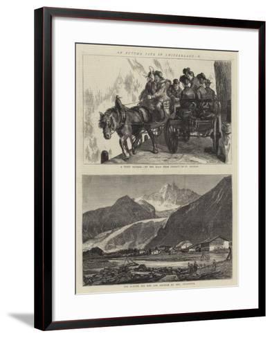 An Autumn Tour in Switzerland, X-Sydney Prior Hall-Framed Art Print
