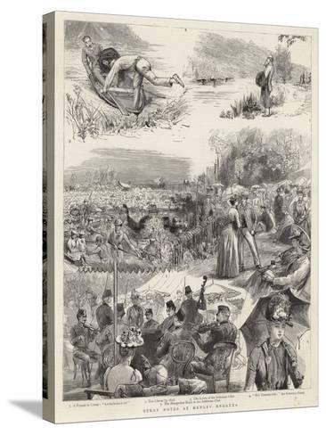 Stray Notes at Henley Regatta-Sydney Prior Hall-Stretched Canvas Print