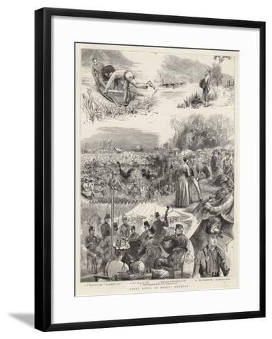 Stray Notes at Henley Regatta-Sydney Prior Hall-Framed Art Print
