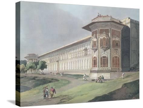 Cotsea Bhaug on the River Jumna at Delhi-Thomas & William Daniell-Stretched Canvas Print