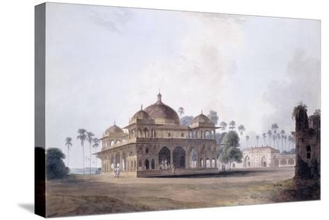 The Mausoleum of Makhdum Shah Daulat, Maner, Bihar, C.1788-1796 (Pencil, Pen and Grey Ink, W/C)-Thomas & William Daniell-Stretched Canvas Print