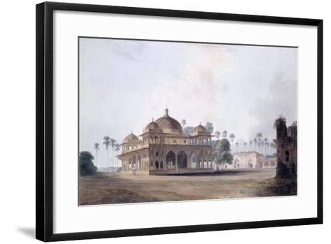 The Mausoleum of Makhdum Shah Daulat, Maner, Bihar, C.1788-1796 (Pencil, Pen and Grey Ink, W/C)-Thomas & William Daniell-Framed Art Print