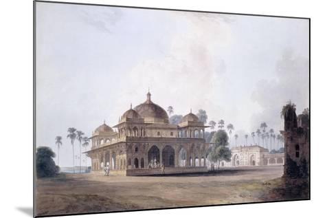 The Mausoleum of Makhdum Shah Daulat, Maner, Bihar, C.1788-1796 (Pencil, Pen and Grey Ink, W/C)-Thomas & William Daniell-Mounted Giclee Print