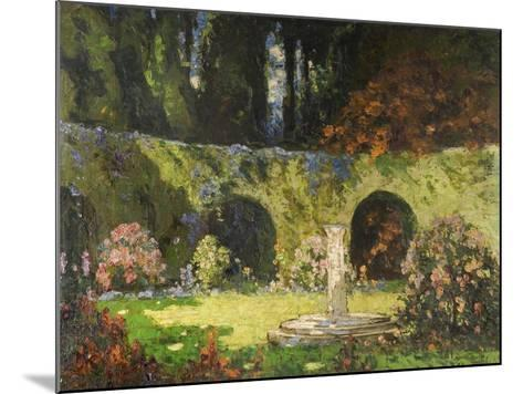 In an Old-World Garden-Thomas Edwin Mostyn-Mounted Giclee Print