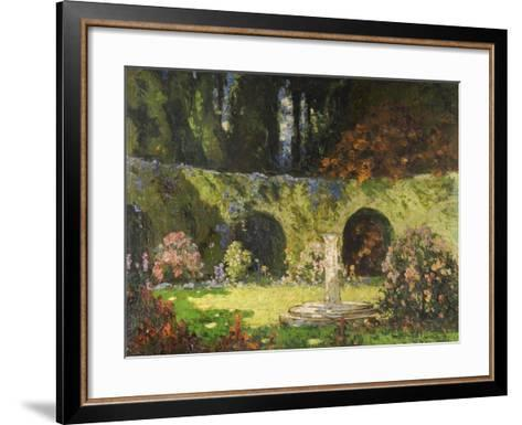 In an Old-World Garden-Thomas Edwin Mostyn-Framed Art Print