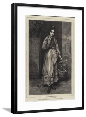 Violets and Primroses-Thomas Faed-Framed Art Print