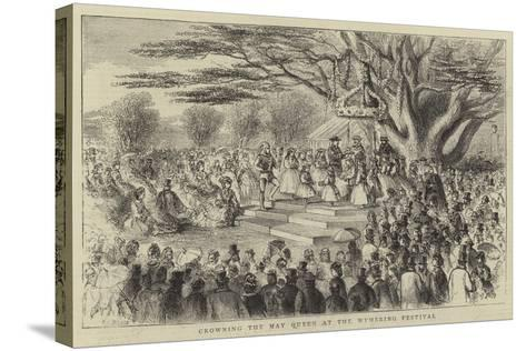 Crowning the May Queen at the Wymering Festival-Thomas Harrington Wilson-Stretched Canvas Print