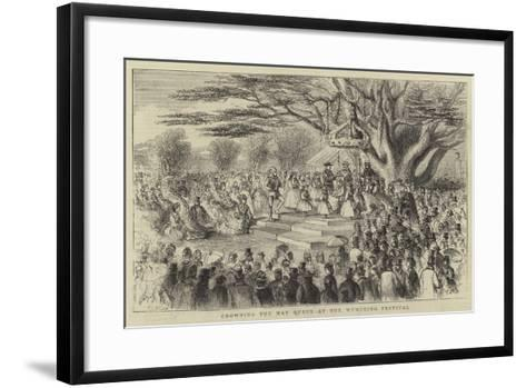 Crowning the May Queen at the Wymering Festival-Thomas Harrington Wilson-Framed Art Print