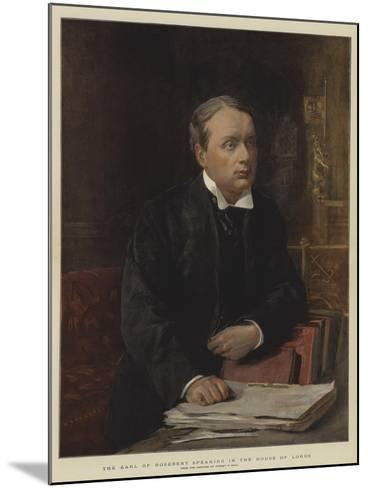 The Earl of Rosebery Speaking in the House of Lords-Sydney Prior Hall-Mounted Giclee Print