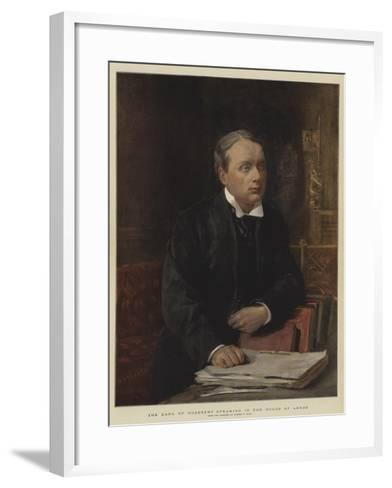 The Earl of Rosebery Speaking in the House of Lords-Sydney Prior Hall-Framed Art Print