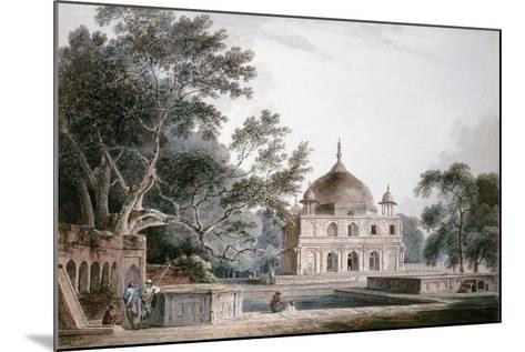 The Mausoleum of Prince Khusrau, Allahabad, Uttar Pradesh, (Pencil and W/C)-Thomas & William Daniell-Mounted Giclee Print