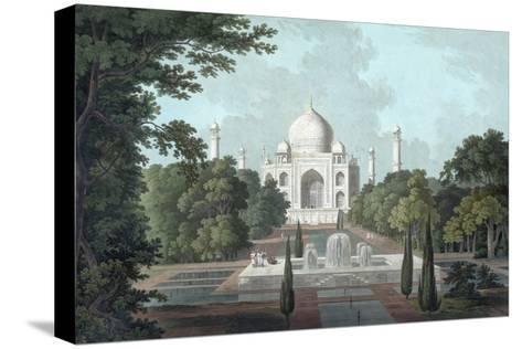 View of Taj Mahal, 1801-Thomas & William Daniell-Stretched Canvas Print