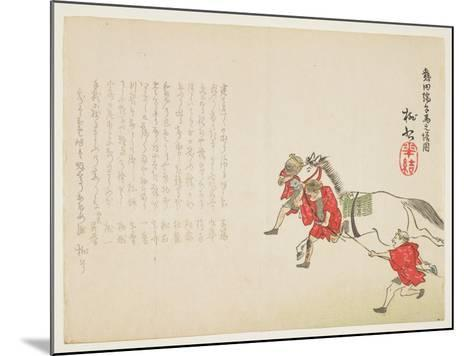 Ceremonial Presentation of a White Horse at the Atsuta Shrine for the Boy's Festival, C.1854-59- T?s?-Mounted Giclee Print