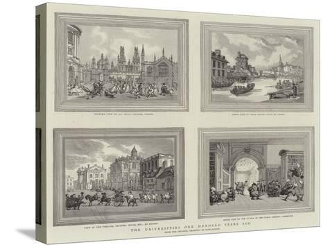 The Universities One Hundred Years Ago-Thomas Rowlandson-Stretched Canvas Print