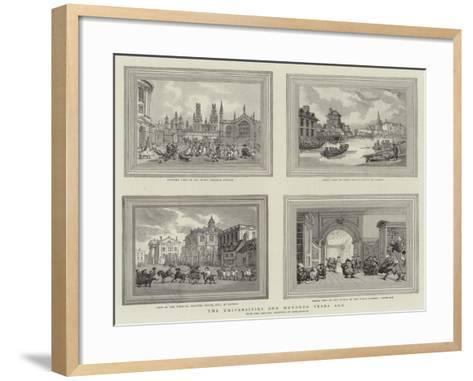 The Universities One Hundred Years Ago-Thomas Rowlandson-Framed Art Print