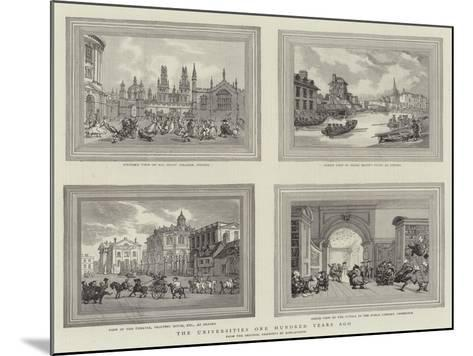The Universities One Hundred Years Ago-Thomas Rowlandson-Mounted Giclee Print