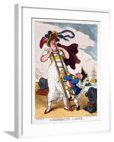 Accommodation Ladder, 1811-Thomas Rowlandson-Framed Art Print