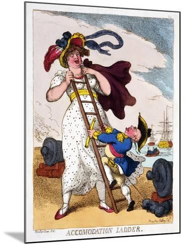 Accommodation Ladder, 1811-Thomas Rowlandson-Mounted Giclee Print