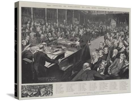 The Opening of Parliament by the King, 16 January-Thomas Walter Wilson-Stretched Canvas Print