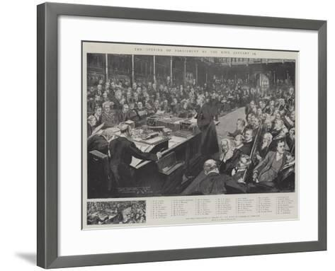 The Opening of Parliament by the King, 16 January-Thomas Walter Wilson-Framed Art Print