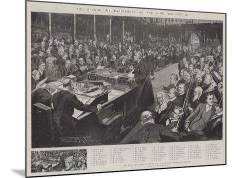 The Opening of Parliament by the King, 16 January-Thomas Walter Wilson-Mounted Giclee Print