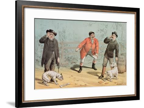 The British Bull Dog Show, from 'St. Stephen's Review Presentation Cartoon', 25 February 1888-Tom Merry-Framed Art Print