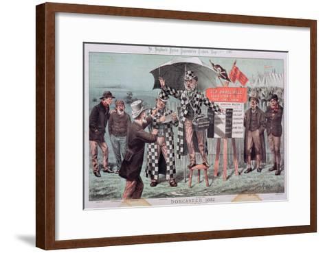Doncaster, from 'St. Stephen's Review Presentation Cartoon', 17 September 1887-Tom Merry-Framed Art Print