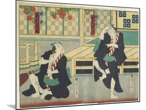 Sawamura Tossho II as Kinohei and Ichimura Kakitsu I as Kippei, May 1865-Toyohara Kunichika-Mounted Giclee Print