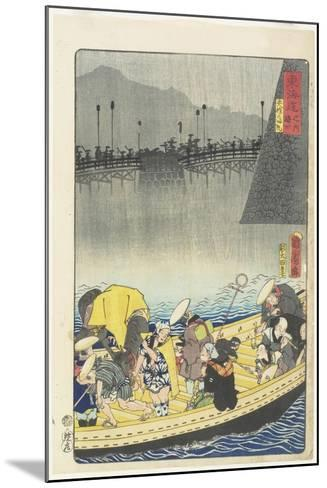 Returning Sails at Yabase in Zeze, April 1863-Toyohara Kunichika-Mounted Giclee Print