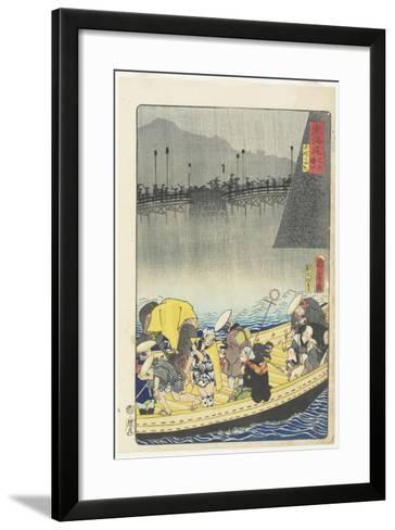 Returning Sails at Yabase in Zeze, April 1863-Toyohara Kunichika-Framed Art Print