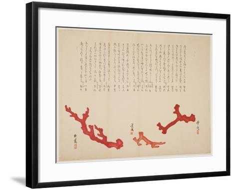 Three Branches of Coral, C. 1818-1829- Toyohiko-Framed Art Print