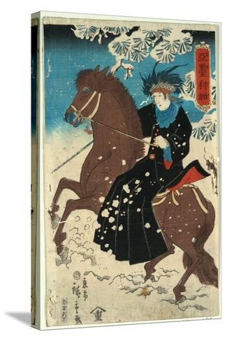 Amerika-Utagawa Hiroshige-Stretched Canvas Print