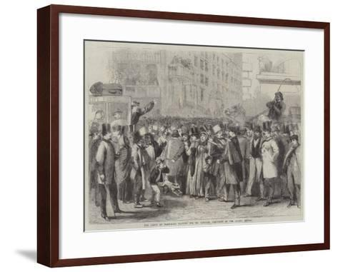 The Crowd at Baltimore Waiting for Mr Lincoln, President of the United States-Thomas Nast-Framed Art Print