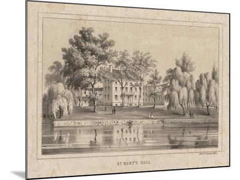 St. Mary's Hall, 1850-Thomas S. Sinclair-Mounted Giclee Print