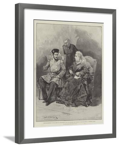 Private Reception of the Ameer of Afghanistan's Son-Thomas Walter Wilson-Framed Art Print