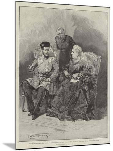 Private Reception of the Ameer of Afghanistan's Son-Thomas Walter Wilson-Mounted Giclee Print