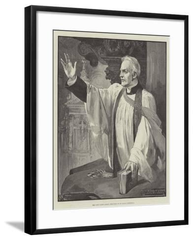 The Late Canon Liddon Preaching in St Paul's Cathedral-Thomas Walter Wilson-Framed Art Print
