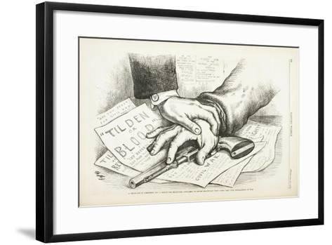 Tilden or Blood, 1877-Thomas Nast-Framed Art Print