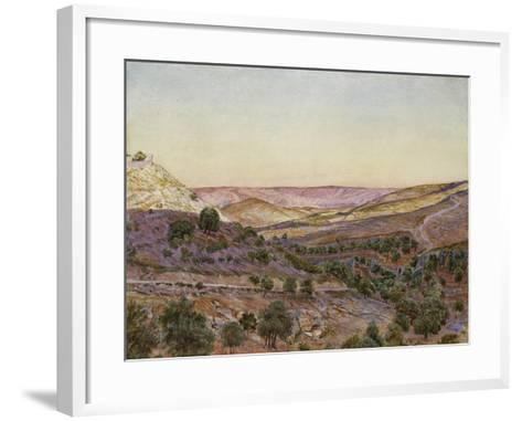 The Hills of Moab and the Valley of Hinnom, 1854 (Watercolour and Bodycolour)-Thomas Seddon-Framed Art Print