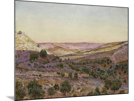 The Hills of Moab and the Valley of Hinnom, 1854 (Watercolour and Bodycolour)-Thomas Seddon-Mounted Giclee Print
