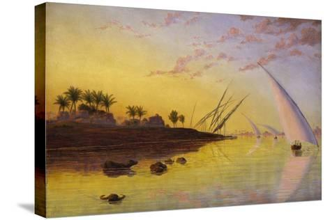 View on the Nile, 1855-Thomas Seddon-Stretched Canvas Print