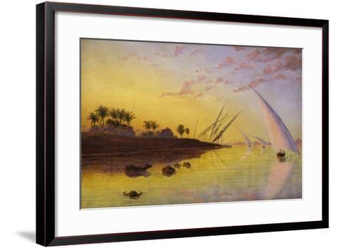 View on the Nile, 1855-Thomas Seddon-Framed Art Print