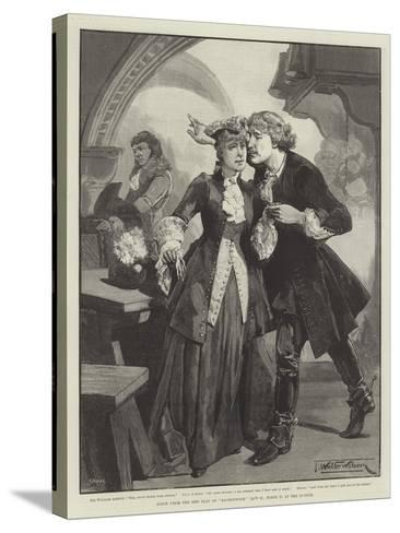 Scene from the New Play of Ravenswood, at the Lyceum-Thomas Walter Wilson-Stretched Canvas Print