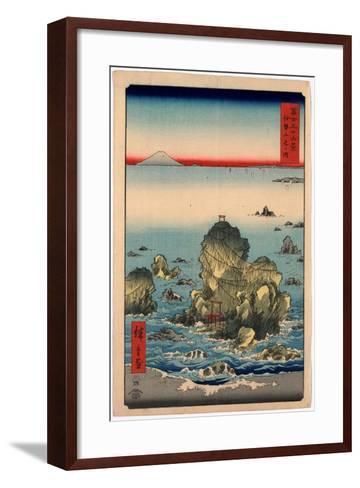 Ise Futamigaura-Utagawa Hiroshige-Framed Art Print
