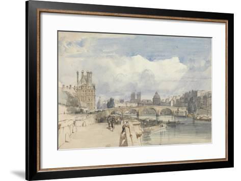 Le Pont Royal, Paris, C.1828-Thomas Shotter Boys-Framed Art Print