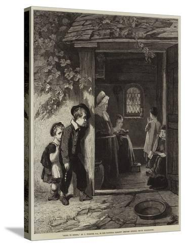 Going to School-Thomas Webster-Stretched Canvas Print
