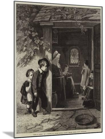 Going to School-Thomas Webster-Mounted Giclee Print